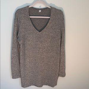 Oversized gray boyfriend sweater